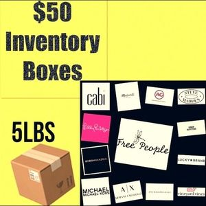 $50 INVENTORY BOXES - 5 LBS, STOCK YOUR CLOSET !!